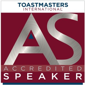Toastmasters Accredited Speaker logo