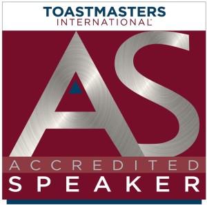 Toastmasters Accredited Speaker logo